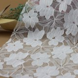 Tissus de lacet attachés par coton français de broderie pour des vêtements
