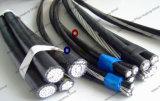Cabo empacotado aéreo, cabo do ABC, cabo aéreo, ASTM, BS, Nfc, IEC, padrão do RUÍDO