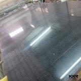 Laje preta de pedra projetada de quartzo do espelho de Kingkonree pedra artificial