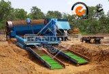 Planta móvel da lavagem do Trommel do equipamento de mineração do ouro