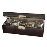 Caixa de relógio de couro personalizada de Royce 5-Slot