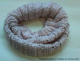 2015 Nieuwe 100% AcrylVrouw die Stevige Winter om Sjaal met Strook Lurex wordt gebreid