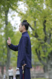 Vêtement chaud épais de Taoism de double mâle de toile de couches d'automne et d'hiver