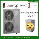 冬-25cの床暖房+ 55c熱湯のシャワーは家の暖房のための12kw/19kw/35kw/70kw Eviの空気ソースヒートポンプの自動霜を取り除く