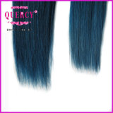 "8A Quercy Hair /Indian/Peruvian/Malaysian 100% Hair 8 "" - человеческие волосы 32 "" #750 Blue Color"