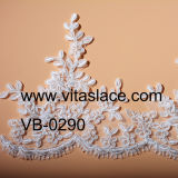 46cm Rayon and Polyester Wedding Lace Trim da China Factory Vb-5101bc