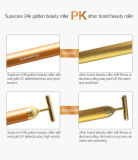 24k Golden Plated Electronic Face Lift e Tighten Massage Beauty Roller con Magnet Wy-1006