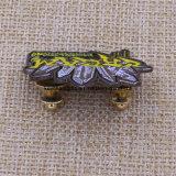 Таможня ваш значок Pin эмали сложного черного никеля формы мягкий