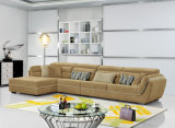 Sofà dell'angolo del tessuto della mobilia del salone