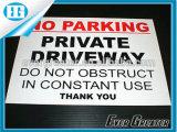 Autoadesivo di plastica d'avvertimento di uso esterno impermeabile su ordinazione