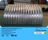波形の電流を通された金属の構造版
