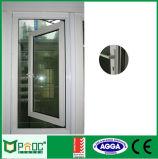 O alumínio articulou a porta com o vidro de segurança feito em China