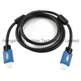 Cable HDMI de alta velocidad dual moldeado con Ethernet para 3D