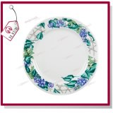 8 '' Ceramic Plate with Design Beans Flower