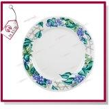 '' piatto di ceramica 8 con il fiore dei fagioli di disegno