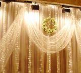 بالجملة عيد ميلاد المسيح نافذة زخرفة [لد] ستار ضوء مع نجار