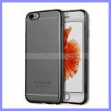 L'électrodéposition du pare-chocs mou de téléphone mobile enferme la caisse mince du dîner TPU pour l'iPhone 7 6s positifs plus la note 4 5 de bord de 5s Samusng S6 S7