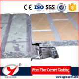 Voie de garage en bois de ciment de fibre de couleur d'enduit de série de raie de modèle ignifuge de brique