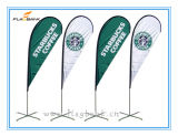 Ausstellung-doppelte seitliche Druckenteardrop-Aluminiummarkierungsfahne/Fliegen-Fahne