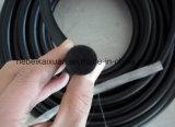 Dichte-Ring-Silikon-Gummi-Netzkabel/quadratisches Silikon-Netzkabel