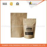 Bolso de empaquetado del papel de Kraft del café de la alta calidad