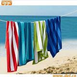Полотенце 100% пляжа Терри нашивки хлопка (DPF70422)