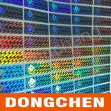 Zoll gestempelschnittener selbstklebender Anti-Fälschung Hologramm-Aufkleber