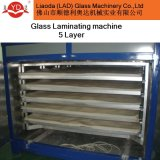 Precio razonable Venta caliente 5 capas de laminación de vidrio de la máquina