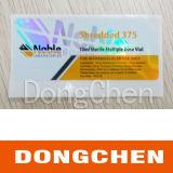 Etiqueta livre do tubo de ensaio do projeto 10ml Holorgram do costume para Decapro 300