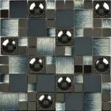 Плитка мозаики нержавеющей стали кристаллический стекла конкурентоспособной цены смешанная (FYMG088)
