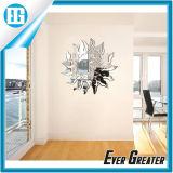 Forma sol espejo de pared de acrílico fuerte engomada de papel