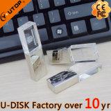 Customerizedのロゴの金属か水晶USBのフラッシュ駆動機構(YT-3270L)