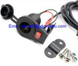 12 V Motorcycle Cigarette Lighter Socket avec Switch pour Handlebars