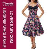 Frauen-Retro Sommer-reizvolle Form kleidet an (L36105-1)