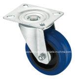 Elastischer Gummispitzenplatten-Schwenker-blaue elastische Gummifußrolle