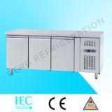 Acier inoxydable de 3 portes sous le contre- réfrigérateur
