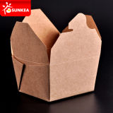 Neem het Vakje van het Document van Kraftpapier voor Voedsel