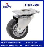 Caster Wheel PU Vite Tipo nero