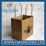 Aufbereiteter Nahrungsmittelgrad-Grün-Drucken-Packpapier-Beutel (DM-GPBB-218)