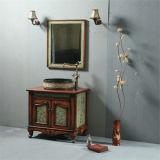Einfacher Entwurfs-festes Holz-Badezimmer-Schrank mit Spiegel