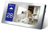 Blauer Farben-Hintergrund mit weißem Hintergrundbeleuchtung LCD-Bildschirm für Aufzug-Anwendung