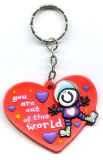 Modèle de forme de coeur de trousseau de clés, boucles principales de logo de pays (GZHY-KA-039)
