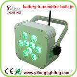 Batterie-Übermittler aufgebaut 15W Rgabw NENNWERT LED in der Stadiums-Wäsche