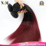 Armadura recta del pelo humano del tono del indio dos del pelo de la onda de Ombre del pelo indio verdadero de la gloria