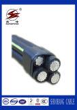 Voltaje clasificado 0.6/1kv y debajo del cable de arriba, aéreo del ABC
