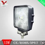 15W projector Offroad do diodo emissor de luz da iluminação do trator de 60 graus (HCW-L1509S)