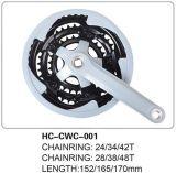Peças de aço das bicicletas de Cwc Crankset Hongchi de Chainwheel & de manivela