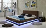 Кровать 2016 кожи освещения A507 СИД