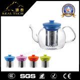Teapot por atacado do Teakettle do vidro de Borosilicate de Handblown com punho