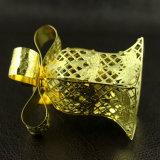 decorazione dorata di natale del metallo 3D